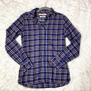 Woolrich Pemberton Flannel Plaid Long Sleeve Top